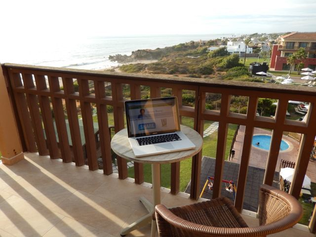 Blogging From The Beach With A View