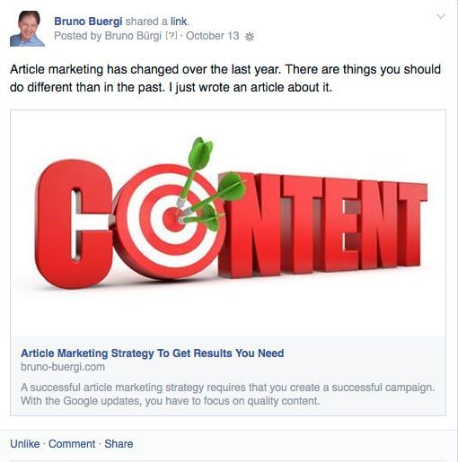 Facebook Marketing Mistakes - Optimal post for FB